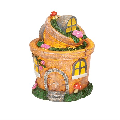 Eden Bloom The Willowdale Collection - Plant Pot Fairy House Light - Small (L26235)