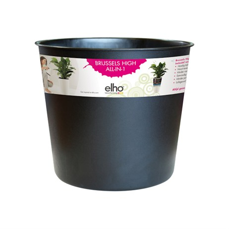 Elho Brussels Diamond High Easy Plant Pot Insert - 27cm - Living Black (8354462743301)