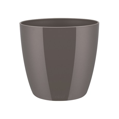 Elho Brussels Diamond Round Plant Pot - 14cm - Oyster Pearl (8141361440500)