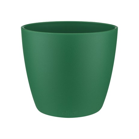 Elho Brussels Round Mini Plant Pot - 12.5cm - Lucky Green (5641121355600)