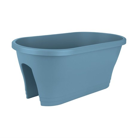 Elho Corsica Flower Bridge Plant Pot 60cm - Vintage Blue (7432425854200)