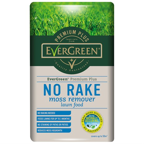 Evergreen No Moss No Rake Moss Remover Lawn Feed 50m (119530)