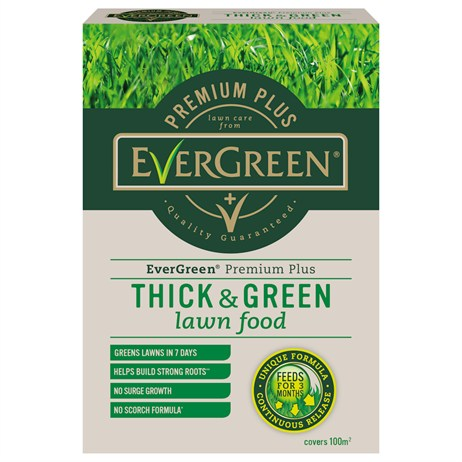 Evergreen Premium Plus Thick & Green Lawn Food 100m (119513)