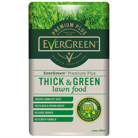 Evergreen Premium Plus Thick & Green Lawn Food 400m (119516)