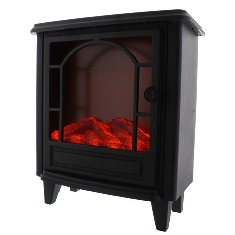 Festive 40cm Battery Operated / USB Flickering Christmas Flame Fireplace (P025994)