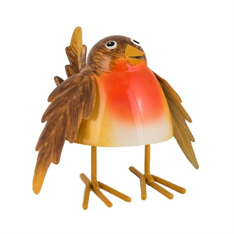 Fountasia Christmas Bobbin' Robin Decoration - Medium (79254)