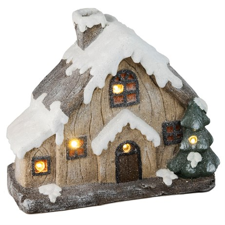 Fountasia Christmas Cottage With LED Lights (79002)