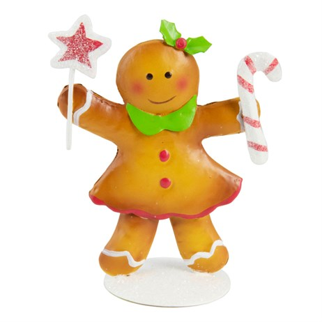 Fountasia Christmas Gingerbread Table Decoration - Woman (79558)