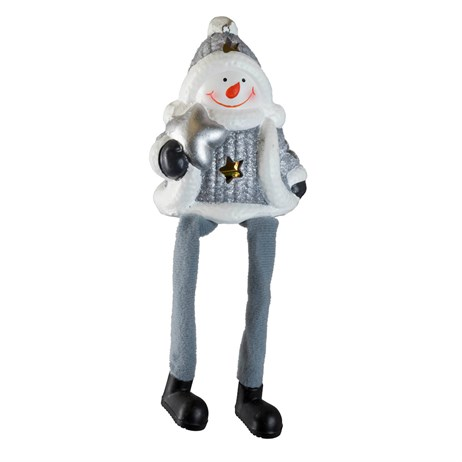Fountasia Christmas Tree Hanging Silver Legged Snowman (78174)