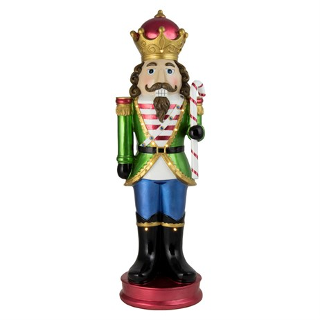 Fountasia Christmas Nutcracker with Candy Cane with LED Lights - Multi-coloured - Small (79152)