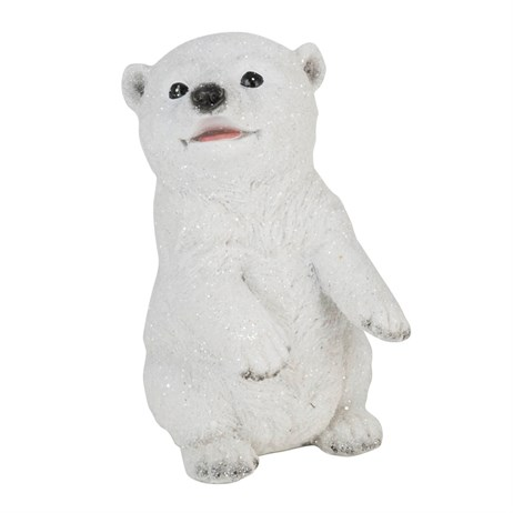 Fountasia Christmas Polar Bear Cub Decoration - Rearing (79447)