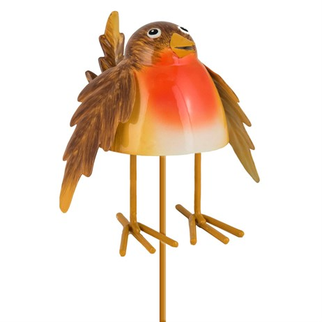 Fountasia Christmas Robin Pot Stick Decoration (79293)