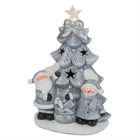 Fountasia Christmas Silver LED Star Tree Decoration (78155)
