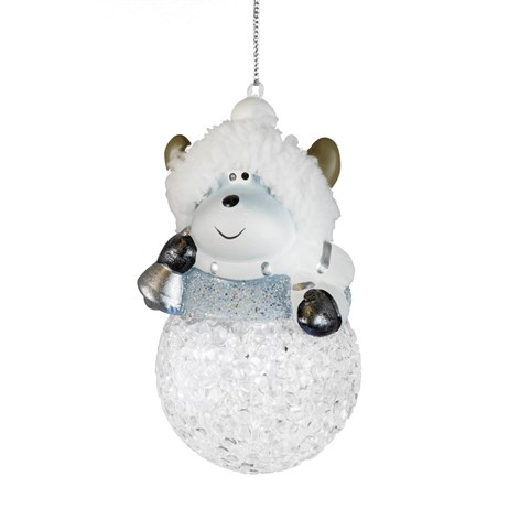 Fountasia Christmas Tree Hanging Snowballs With Silver Reindeer (78172)