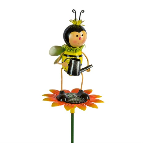 Fountasia Garden Stake - Bee With Watering Can On Sunflower (93963)