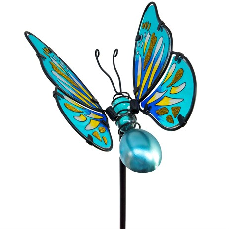 Fountasia Garden Stake - Large Butterfly Stakes - Blue (35067)