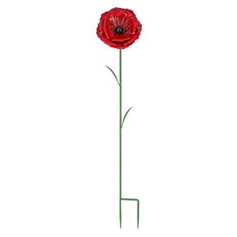 Fountasia Metal - Poppy Flower Stake - Medium (52301)