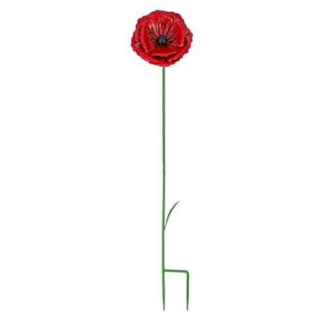 Fountasia Metal - Poppy Flower Stake - Small (52302)