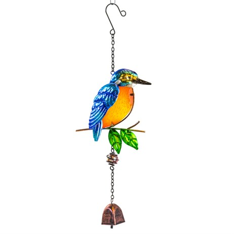Fountasia Musical Ornament - Kingfisher Hanging Bell (35075)