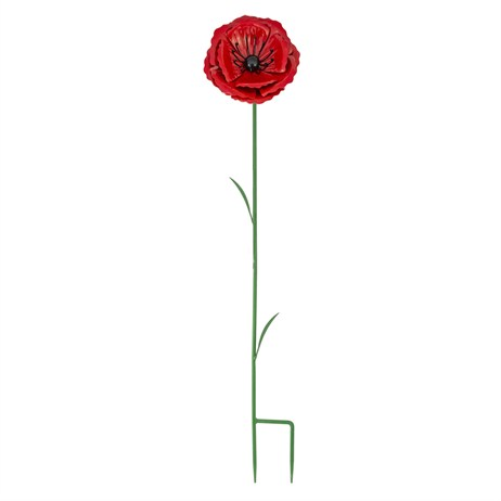 Fountasia Poppy Flower Stake - Small Garden Stake (52302)