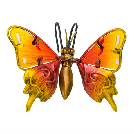 Fountasia Pot Hanger - Butterfly Small - Orange (35115)
