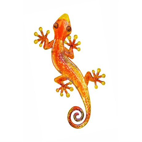 Fountasia Wall Art - Gecko - Small - Orange (35108)