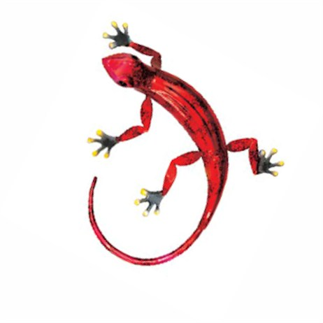 Fountasia Wall Art - Gecko Small - Red (93681)