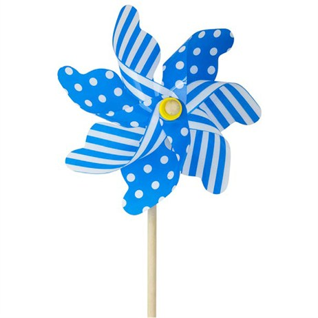 Fountasia Windmill Spinner - Blue Spot/Stripe - Large (88633)