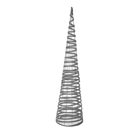 Gardman 1.5m Rattan Effect Obelisk - Light Grey (07764)