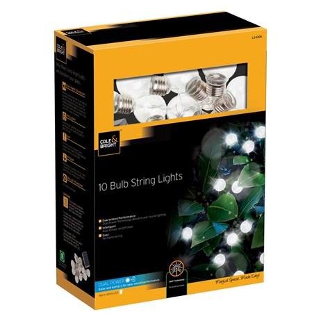 Gardman 10 Clear Bulb String Lights (L24305)