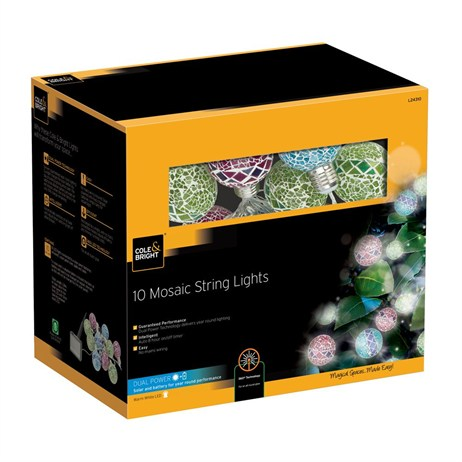 Gardman 10 Mosaic String Lights (L24310)