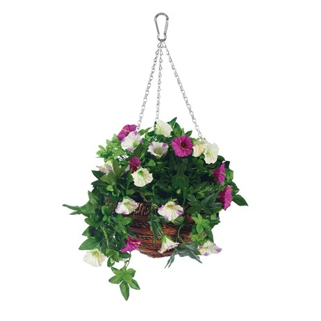 Gardman 12in Artificial Petunia Hanging Basket (02844)