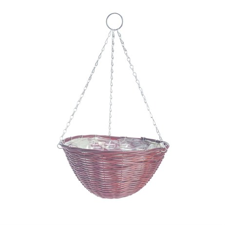 Gardman 35cm (14in) Rattan Effect Brown Hanging Basket (02888)