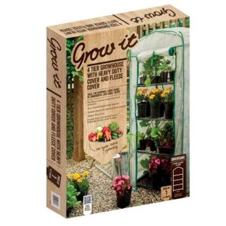 Gardman 4 Tier Growhouse with Heavy Duty Cover & Fleece Cover (8741)