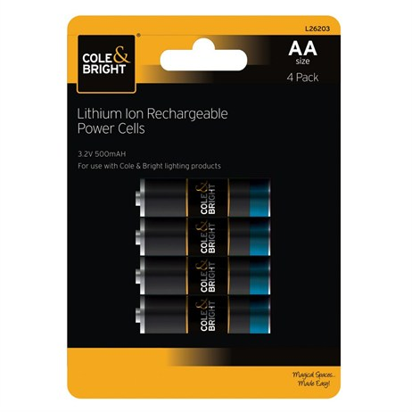 Gardman AA Lithium Ion Rechargeable Power Cells - 4 Pack (L26203)