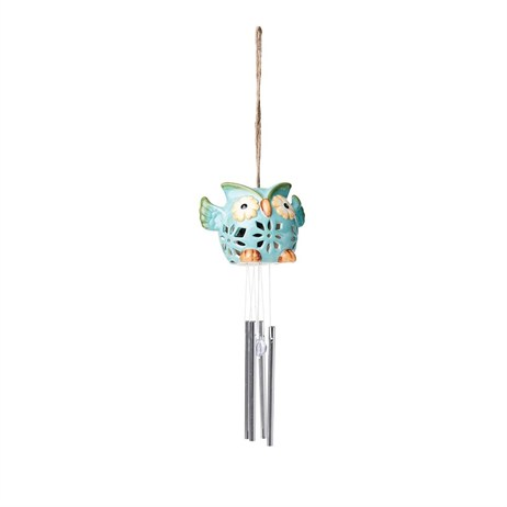 Gardman Colour Changing Ceramic Owl Wind Chime Light (L25205)