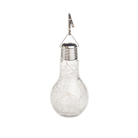 Gardman Crackle Glass Hanging Lightbulb (L23003)