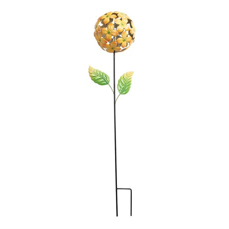 Gardman Flower Ball Stake - Yellow (09884)