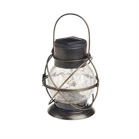 Gardman Rainbow Twinkling Crackle Glass Lantern (L23035)