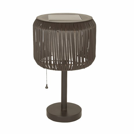 Gardman Solar Rattan Table Lamp (L26257)