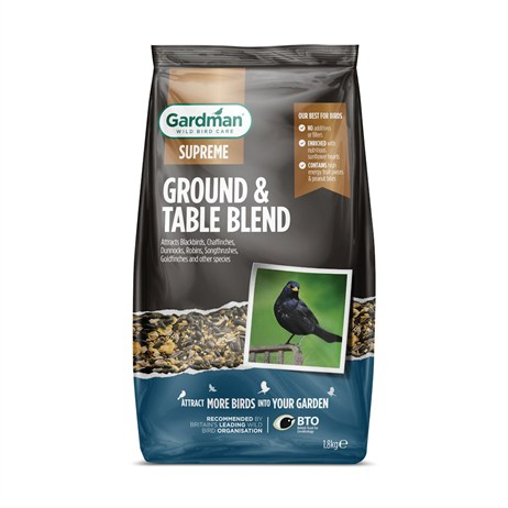 Gardman Supreme Ground and Table Blend Bird Food - 1.8kg (A09202)