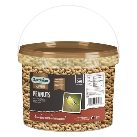 Gardman Supreme Whole Peanuts Tub Bird Food - 5kg (A09505)