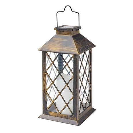 Gardman Traditional Candle Lantern Rustic - Large (L23023)