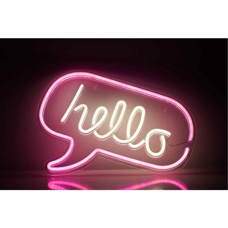 Ginger Snap Hello Speech Bubble Neon Wall Light Sign (NEONLEDHELLO02)