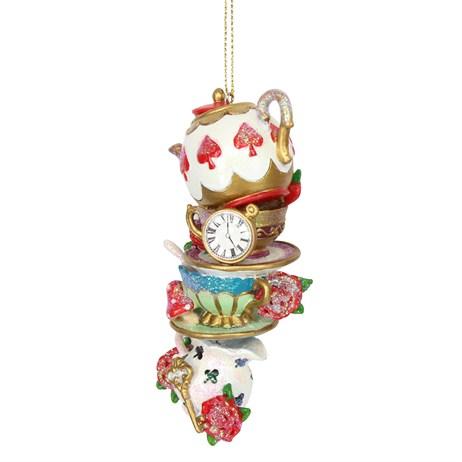 Gisela Graham Christmas Alice in Wonderland Teapot & Cups & Saucers ...