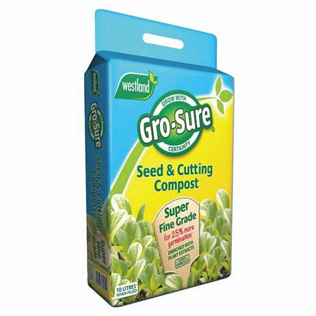 Westland Gro-Sure Seed & Cutting Compost Pouch - 10L (11200001)