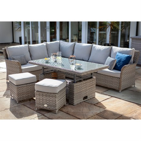 Hartman Heritage Casual Outdoor Garden Furniture Dining Set With Adjustable Table (711186)