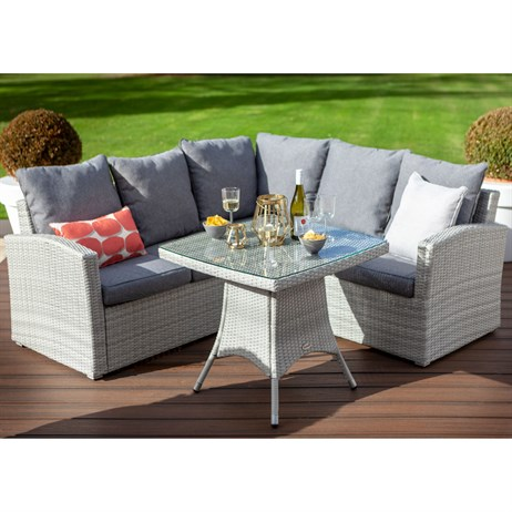 Hartman Linear Square Casual Corner Outdoor Garden Furniture Dining Set (716002)