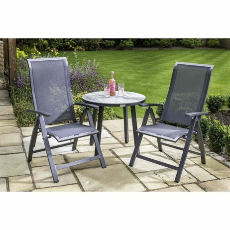 Hartman Vienna Reclining Bistro Outdoor Garden Furniture Set (840370)
