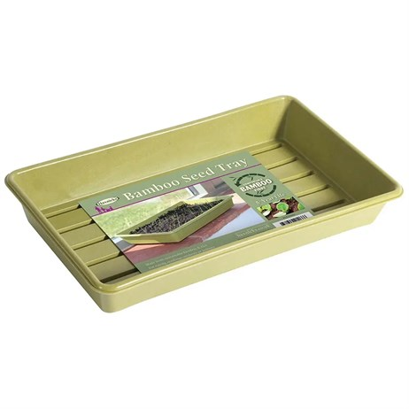 Haxnicks Bamboo Biodegradable Seed Tray Sage Green (Pot150101)